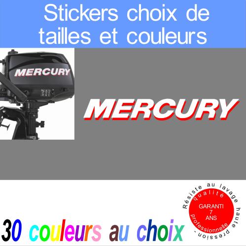sticker mercury ref  grandes tailles moteur hors bord  bord bateau  voilier ou jet ski