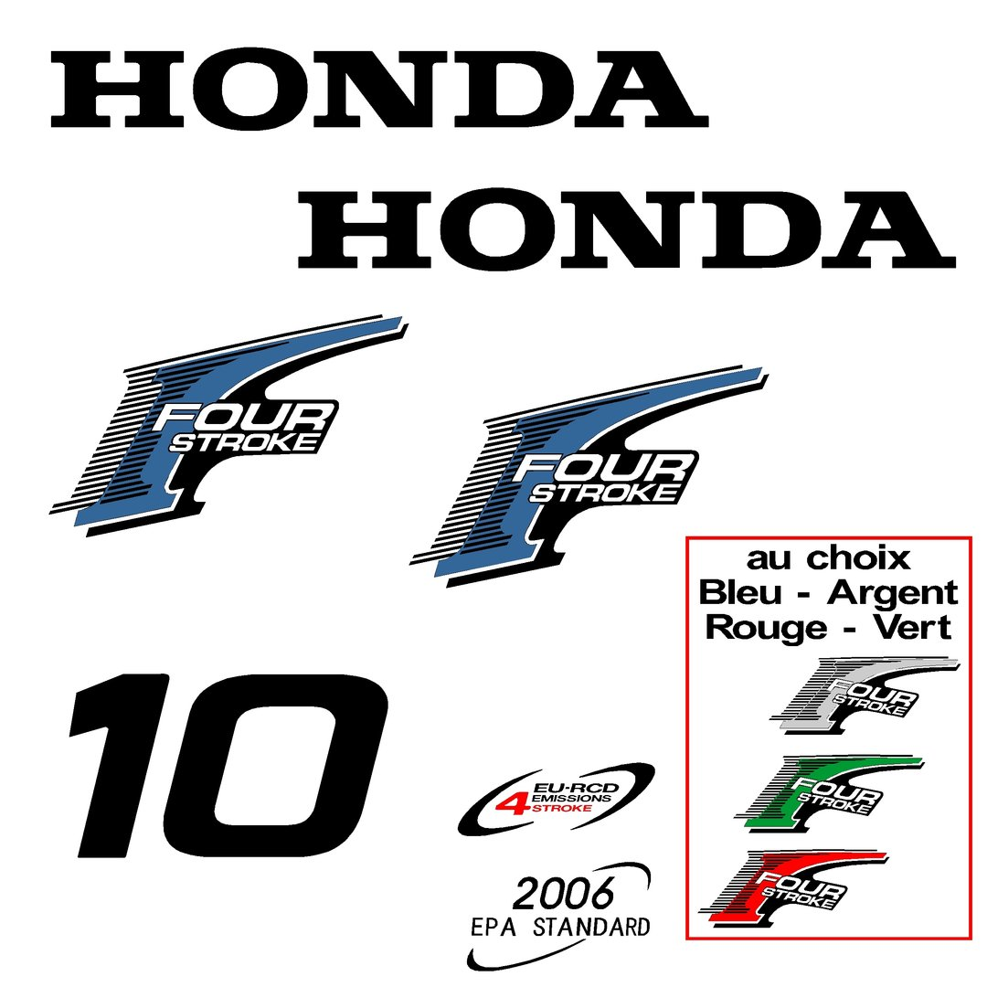 1 kit stickers honda 10 cv serie 2