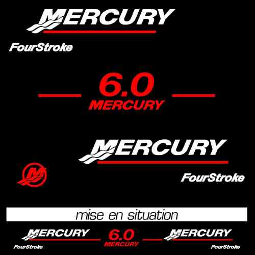 kit stickers MERCURY 6 cv ref 34