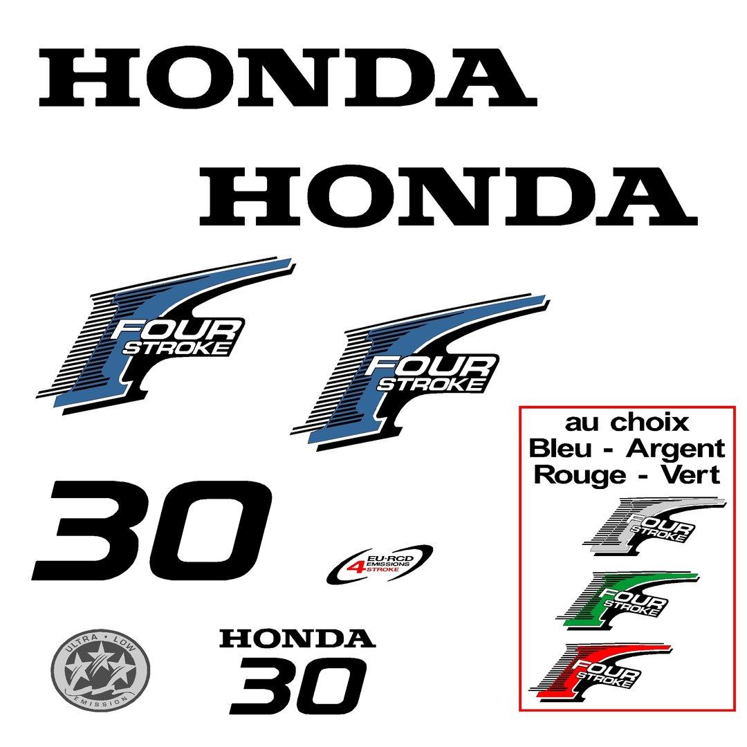 kit stickers honda 30 cv serie 2 autocollant capot moteur decals