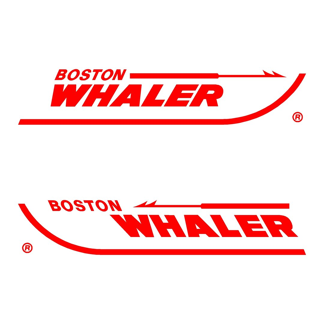 2 stickers boston whaler ref 1 bateau p che nautisme autocollant. Black Bedroom Furniture Sets. Home Design Ideas