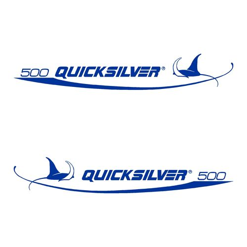 stickers QUICKSILVER 500 ref 6