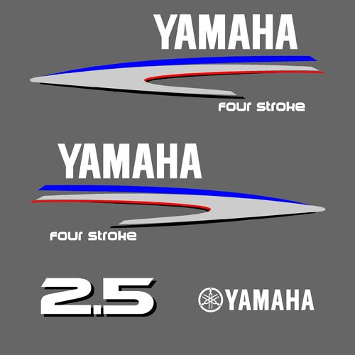 1 kit stickers YAMAHA 2.5cv serie 2