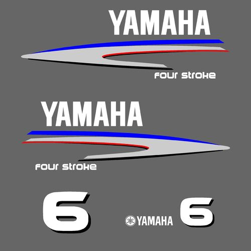 1 kit stickers YAMAHA 6cv serie 2