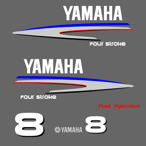 1 kit stickers YAMAHA 8cv serie 2