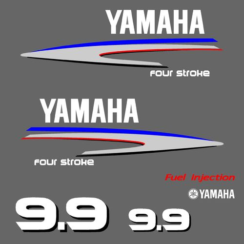 1 kit stickers YAMAHA 9,9cv serie 2