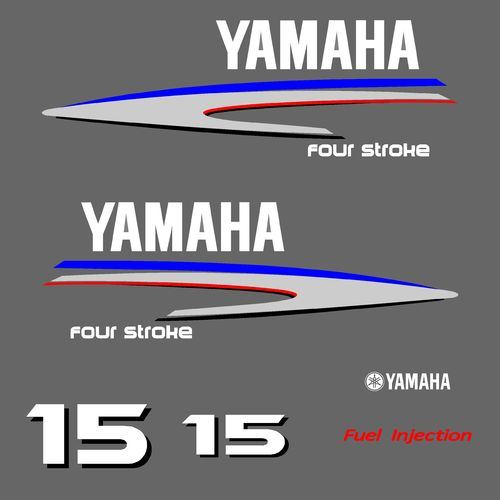 1 kit stickers YAMAHA 15cv serie 2