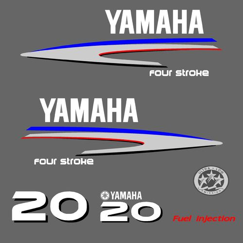 1 kit stickers YAMAHA 20cv serie 2