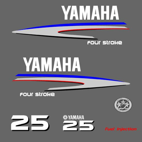 1 kit stickers YAMAHA 25cv serie 2
