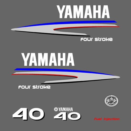 1 kit stickers YAMAHA 40cv serie 2