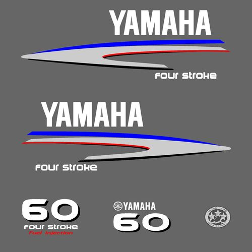 1 kit stickers YAMAHA 60cv serie 2