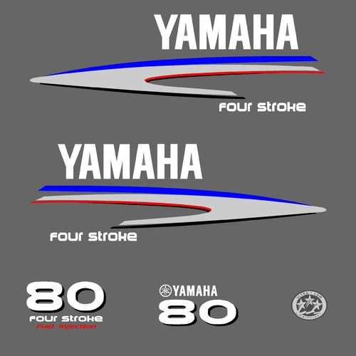 1 kit stickers YAMAHA 80cv serie 2