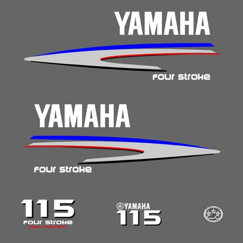 1 kit stickers YAMAHA 115cv serie 2