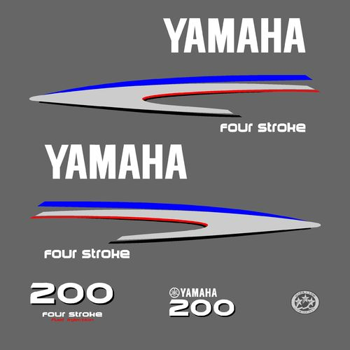 1 kit stickers YAMAHA 200cv serie 2