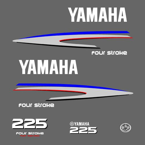 1 kit stickers YAMAHA 225cv serie 2