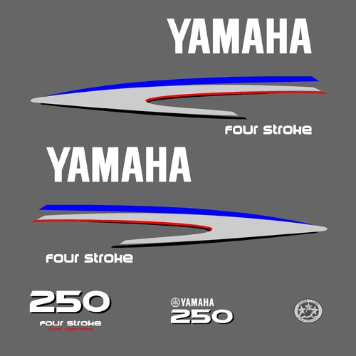 1 kit stickers YAMAHA 250cv serie 2