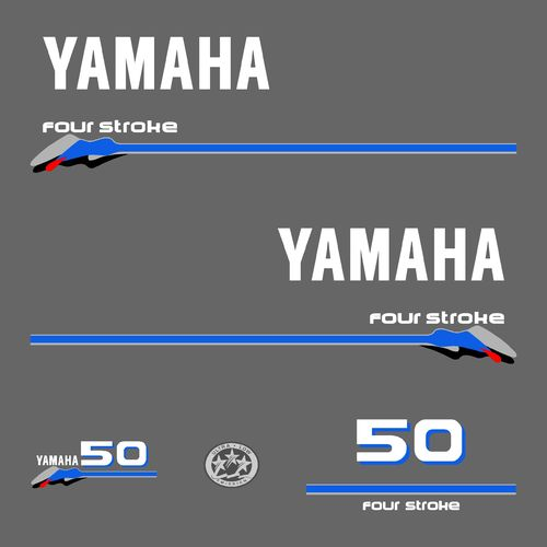 1 kit stickers YAMAHA 50cv serie 3