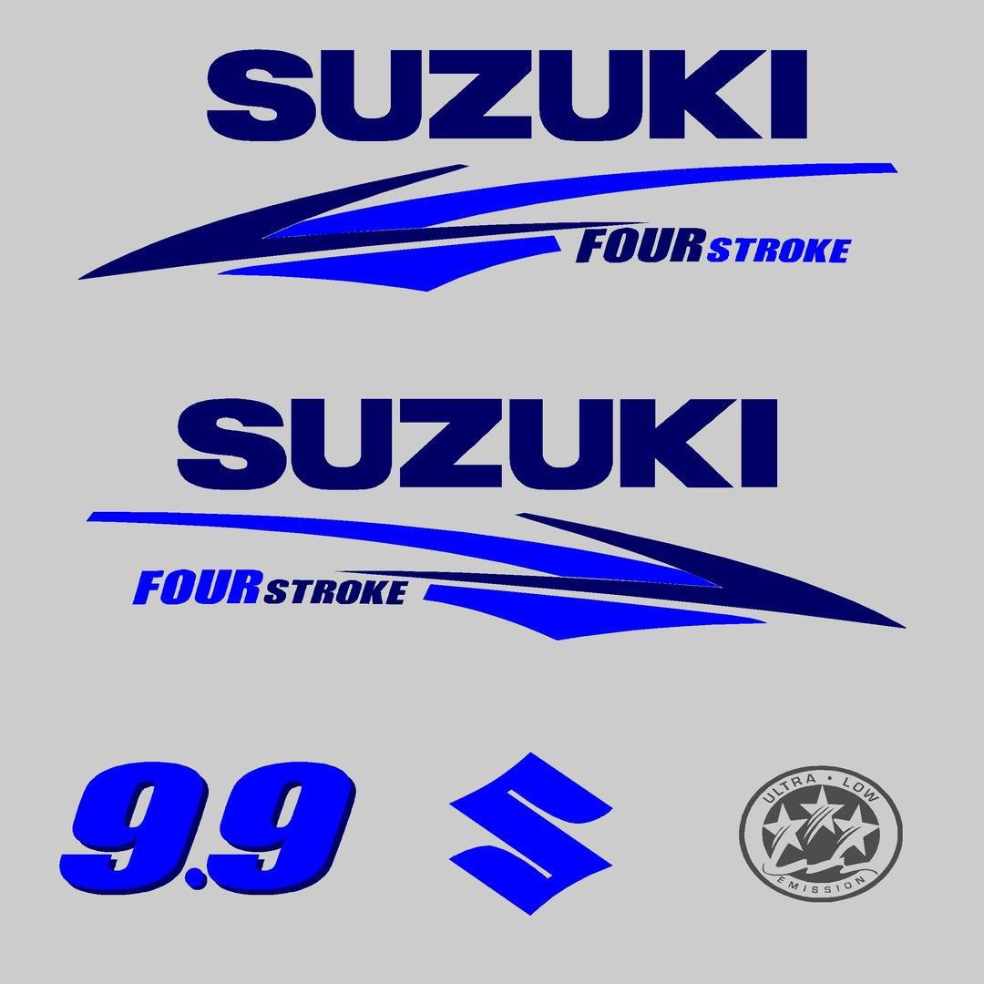 1 kit stickers suzuki serie 2 autocollant pour capot - Housse capot moteur hors bord ...