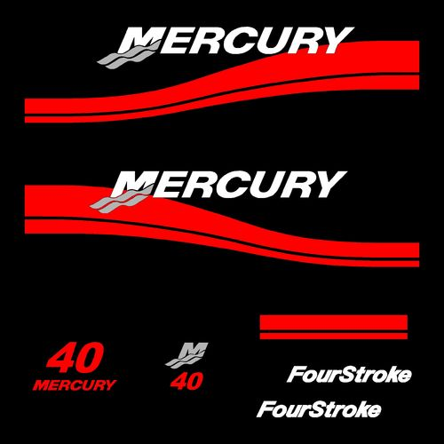 1 kit stickers MERCURY 40cv serie 2