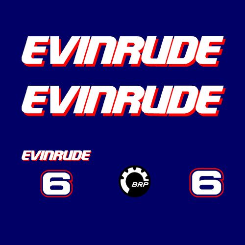 1 kit stickers EVINRUDE 6 cv serie 1