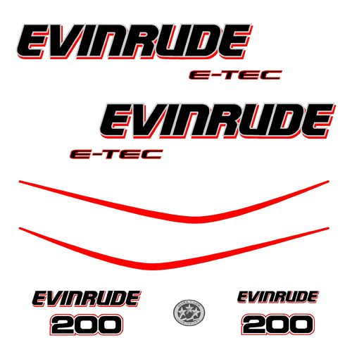 1 kit stickers EVINRUDE 200 cv serie 3