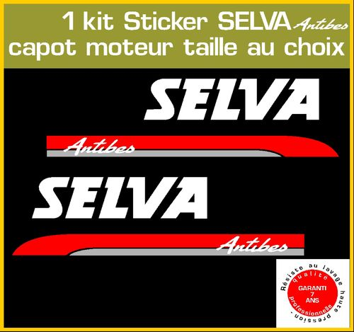 2 stickers SELVA Antibes serie 1 moteur hors bord bateau