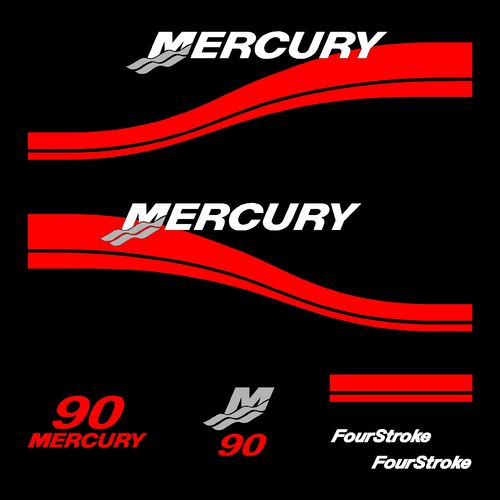 1 kit stickers MERCURY 90cv serie 2