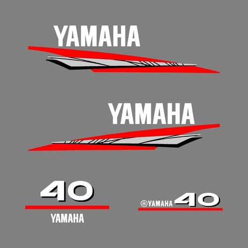 1 kit stickers YAMAHA 40cv serie 6