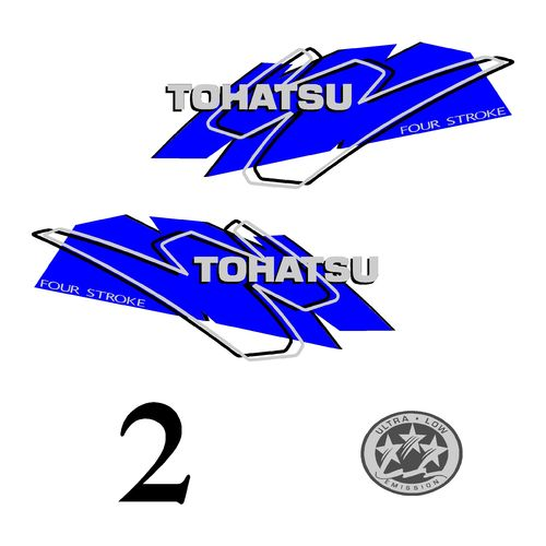 1 kit stickers TOHATSU 2CV serie 3