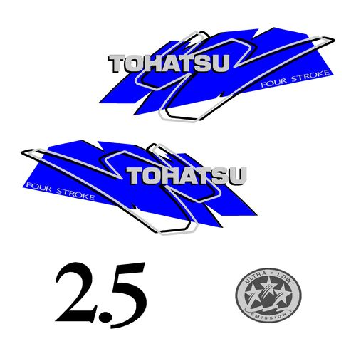 1 kit stickers TOHATSU 2.5CV serie 3