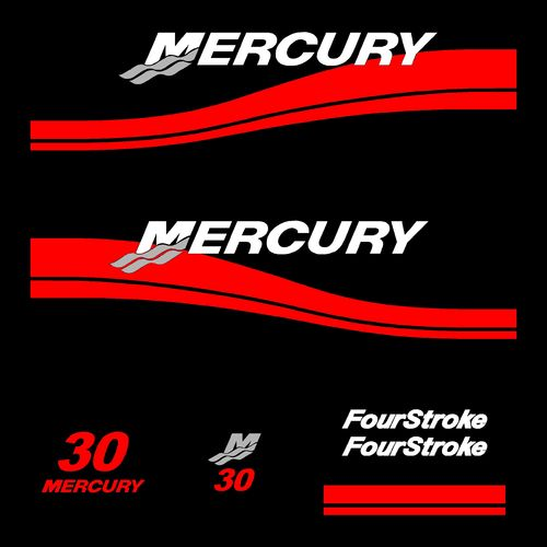 1 kit stickers MERCURY 30cv serie 2