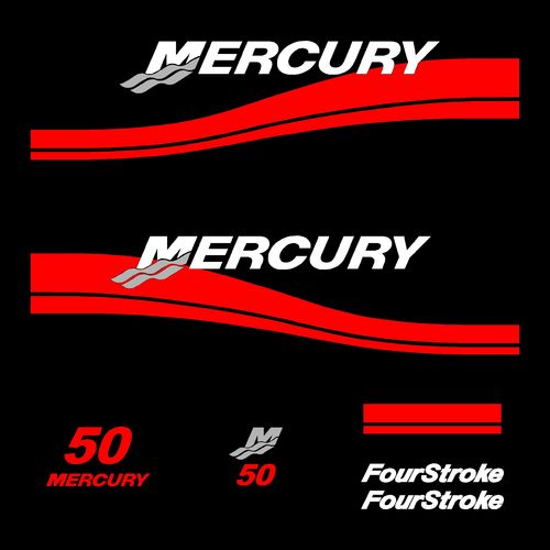 1 kit stickers MERCURY 50cv serie 2