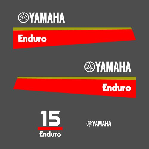 1 kit stickers YAMAHA 15cv enduro serie 8