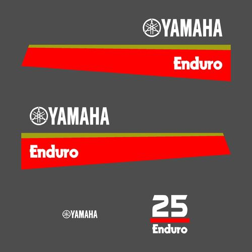 1 kit stickers YAMAHA 25cv enduro serie 8