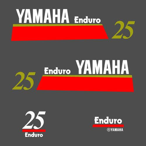 1 kit stickers YAMAHA 25cv enduro serie 7