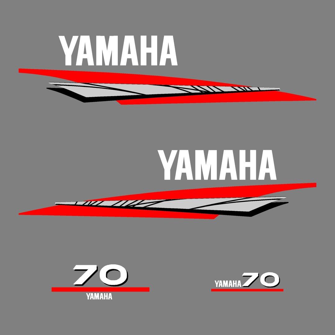 1 kit stickers yamaha 70cv serie 6 autocollant pour capot