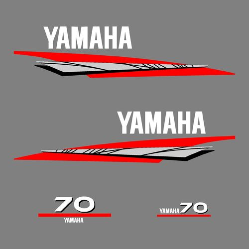 1 kit stickers YAMAHA 70cv serie 6