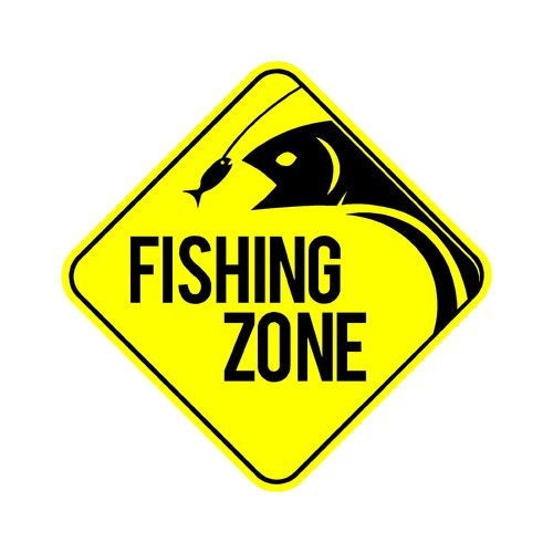 sticker FISHING ZONE ref 1