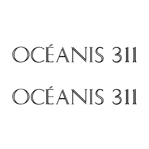 2 Stickers OCEANIS 311 ref 22
