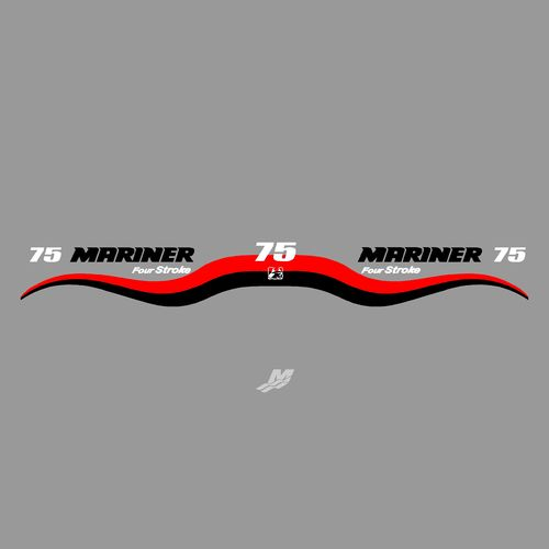 1 kit stickers MARINER 75cv serie 5 Four stroke