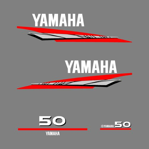 1 kit stickers YAMAHA 50cv serie 6