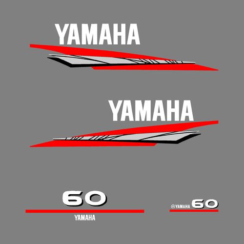 1 kit stickers YAMAHA 60cv serie 6