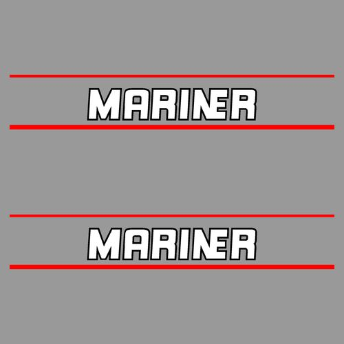 1 lot de 2 stickers MARINER ref 1 serie 2