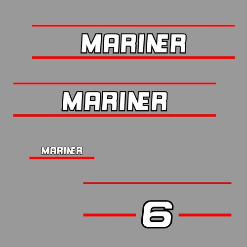 1 kit stickers MARINER 6cv serie 2