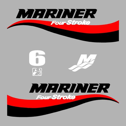 1 kit stickers MARINER 6cv serie 6
