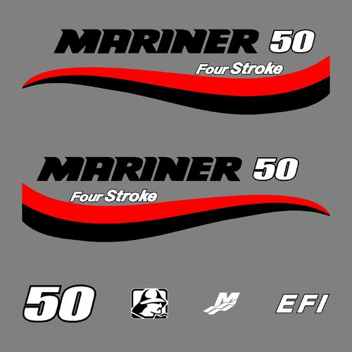 1 kit stickers MARINER 50cv serie 6