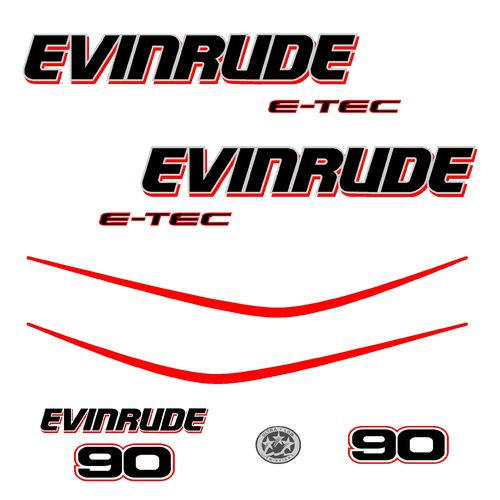 1 kit stickers EVINRUDE 90 cv serie 3