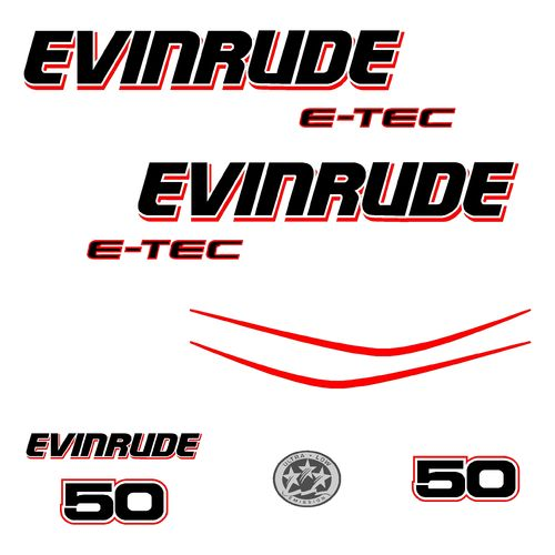 1 kit stickers EVINRUDE 50 cv serie 3