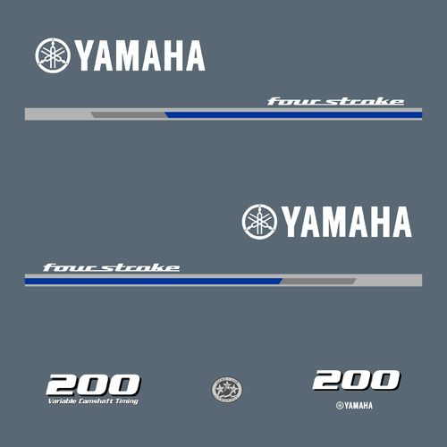 1 kit stickers YAMAHA 200cv serie 1