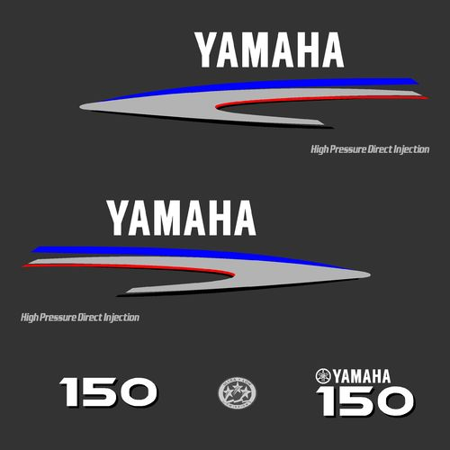 1 kit stickers YAMAHA HPDI 150cv serie 2